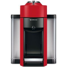 De'Longhi Nespresso Evoluo Coffee and Espresso Machine ($150) ❤ liked on Polyvore featuring home, kitchen & dining, small appliances, red, delonghi espresso maker, espresso cappuccino machine, espresso coffee machine, espresso coffee maker and coffee espresso cappuccino maker