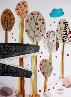 Get inspired with our trend collages For more inspiration just visit Paper Art, Paper Crafts, Design Art Drawing, Serpentina, Children's Book Illustration, Art Plastique, Elementary Art, Collage Art, Art Lessons