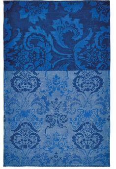 Favorite elegant rug. Designers Guild home decor. Kashgar Indigo Blue Damask Area Rug