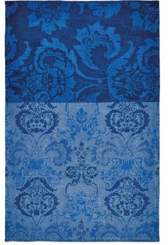 Favorite elegant rug. Designers Guild home decor. Kashgar Indigo Blue Damask Area Rug
