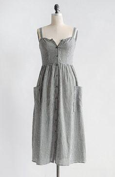 627774c5b0f6 Feminine Vintage Inspired Dress   Midi Gingham Dress   Homestead Dress –  Adored Vintage Vintagemode