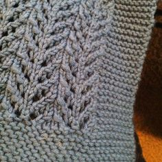 Gull lace baby blanket