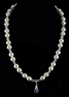 Swarovski Pearl Necklace | Sterling Silver Jewelry