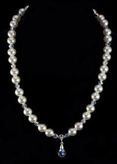 Swarovski Pearl Necklace | Sterling Silver Jewelry