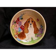 "Pet Bowl, 6"" Dog Bowl for Food or Water. Personalized at no Charge. Signed by Artist, Debby Carman. ~ To have more info could be found at the image url. (This is an affiliate link and I receive a commission for the sales)"