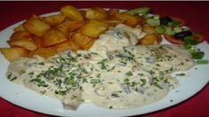 Najlepšie kuracie prsíčka s cesnakom a krémovou omáčkou aké ste kedy jedli! Wrap, Potato Salad, Food And Drink, Dairy, Potatoes, Cheese, Chicken, Ethnic Recipes, Food Food