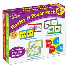 Master It Power Pack from TREND. Teacher-created, award-winning learning products for Pre-K to Grade 9. TRENDenterprises.com.