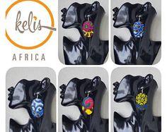 Ankara Earrings / African Print Earrings /Handmade Earrings / African earrings/