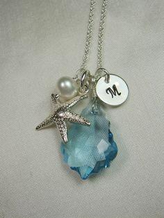 Personalized Necklace Beach Wedding Jewelry by MesmericJewelry