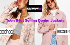 Buy the latest top selling Teen Denim Jackets from Irish fashion website, Fashion.ie Ireland. Pastel denim jackets from Boohoo and Missguided