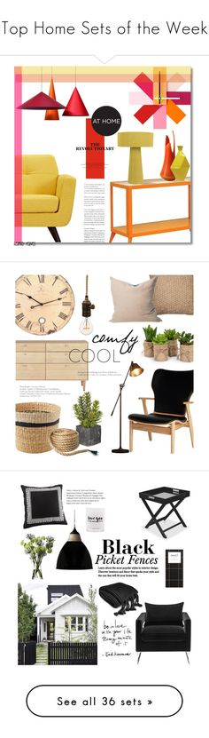 """Top Home Sets of the Week"" by polyvore ❤ liked on Polyvore featuring interior, interiors, interior design, home, home decor, interior decorating, Normann Copenhagen, Furniture of America, Joybird and Artek"