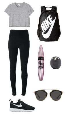 """""""Airport ✈️"""" by juliesunicorn on Polyvore featuring мода, Givenchy, NIKE, Monki, Maybelline, Eos и Christian Dior"""