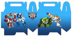 Transformers Rescue Bots Free Printable Lunch Box.