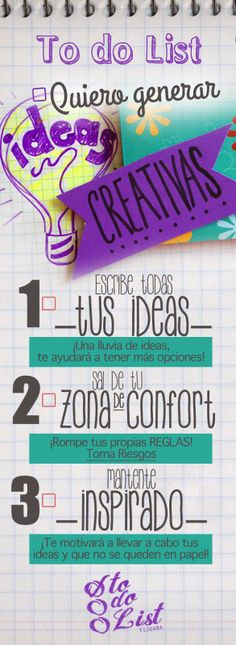 Quiero generar Ideas Creativas...