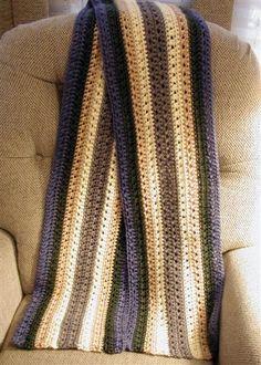 """Paul's """"Sweet Guy"""" Scarf By Wolf Crochet - Free Crochet Pattern - (wolfcrochet.wordpress)"""