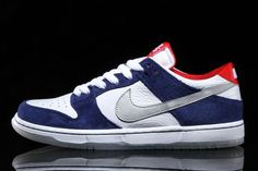 """online store 49250 3052f NIKE SB DUNK LOW PRO """"ISHOD WAIR"""" QS Deep Royal Blue Silver Red Size UK 8  New"""