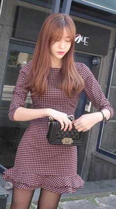 LUXE ASIAN FASHION - DRESS - Luxe Asian Women Design Korean Model Fashion Style… Korea Fashion, Korean Fashion Trends, Daily Fashion, Asian Fashion, Fashion Tips, Fashion Styles, Club Dresses, Nice Dresses, Summer Dresses