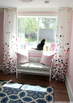 pink and navy confetti drapes tutorial