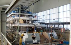 yacht under construction #yachting #megayacht #superyacht #arial