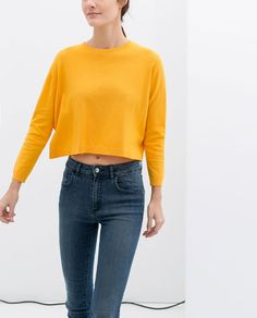 CROPPED SWEATER from Zara