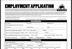 Buffalo Wild Wings Printable Job Application