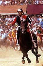 Palio race in Siena.  Loved Siena, would love to see the race.