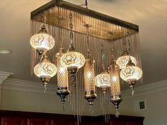 Şık 2021 cnc tavan Galeri i  Chandelier lamp Turkey lamp Moroccan light moroccan