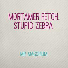 Mr. Magorium's Wonder Emporium Stupid zebra...