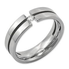 Daniels Jewelers :: Titanium and Diamond Wedding Band