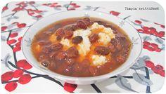 Timpin keittiössä: Joulukalenteri 2015 luukku 6: Rusinasoppa Chili, Soup, Desserts, Tailgate Desserts, Deserts, Chile, Postres, Soups, Dessert