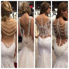 I DEF WANT A DRESS WITH A BACK LIKE THIS! Makes me want to wait on getting my lower back/sdie tatted