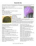 Ravelry: Butterfly Hat pattern by Sofiya Cremin Knitting Patterns, Crochet Patterns, Knit In The Round, Butterfly Pattern, Ravelry, Crocheting, Sewing Projects, Baskets, Hats
