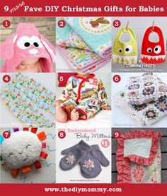 A Handmade Christmas: 9 More Favourite DIY Christmas GIfts for Babies - The DIY Mommy