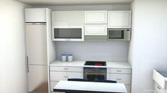 diseño cocina pequeña y complicada