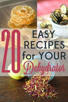 These 20 easy dehydrator recipes are quick to put together and will leave you wondering how you ever lived without this fun tool! Oh, and did I mention that they're also delicious?