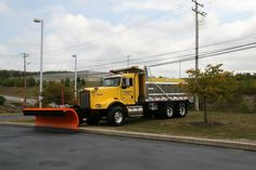 A Kenworth Dump/Plow Truck, belonging to the Lackawanna County Department of Roads and Bridges, was on static display at Heroes Day 2014.