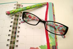 Lilly agenda, pen & eyewear