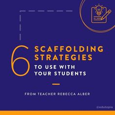 "Edutopia on Instagram: ""From show and tell to using visual aids, check out these 6 scaffolding strategies you may or may not have tried yet! #TeacherTip…"" Visual Aids, English Language Learners, Scaffolding, Teacher Hacks, Show And Tell, Student, Check, Instagram, Ideas"