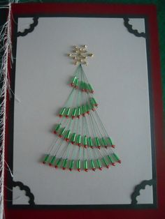 Christmas Tree Stitched Holiday Card by Louises47 on Etsy
