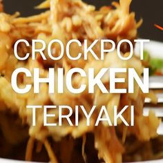 Slow Cooker Teriyaki Chicken Recipe is the perfect, easy, healthy, and delicious week night dinner! My new favorite throw and go slow cooker recipe! Slow Cooker Huhn, Slow Cooker Recipes, Cooking Recipes, Slow Cooker Recipe Videos, Slow Cooker Dinners, Cooking Hacks, Slow Cooking, Cooking Pasta, Chicken Teriyaki Rezept