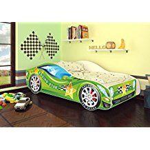 kinderbett im auto design   ideen für ein autozimmer   dekoration