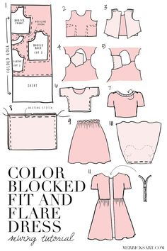 Merrick's Art // Style + Sewing for the Everyday Girl: DIY FRIDAY: COLOR BLOCKED LACE FIT AND FLARE DRESS