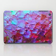 """Mermaid Scales"" by Ebi Emporium on #Society6, Fine Art iPad Case Abstract Acrylic Painting Modern Decorative Eggplant Dark Purple Violet Turquoise Ombre, #fineart #ombre #art #purple #purple #mermaid #colorful #abstractpainting #EbiEmporium #JuliaDiSano #ipad #iPadcase #tech #techie"
