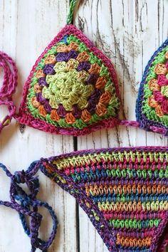 Crochet bikini Crochet swimwear Crochet bathing suit by MarryG
