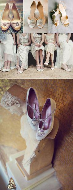 Zapatos para novia vintage estilo años 20