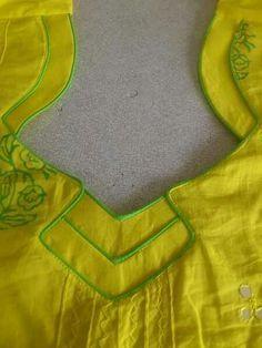 Different types of kurtis neck designs - Art & Craft neck designIdeas Chudithar Neck Designs, Salwar Neck Designs, Neck Designs For Suits, Churidar Designs, Kurta Neck Design, Saree Blouse Neck Designs, Neckline Designs, Dress Neck Designs, Salwar Neck Patterns
