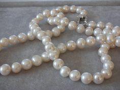 Halsband 100cm med 11 mm pärlor