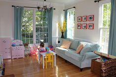 Turning your garage into a daycare hannah parker home Formal living room and dining room combo