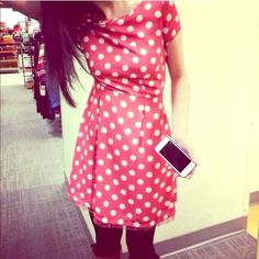 Selling this  Red + White Polka Dot LC Lauren Conrad in my Poshmark closet! My username is: hacsince91. #shopmycloset #poshmark #fashion #shopping #style #forsale #LC Lauren Conrad #Dresses