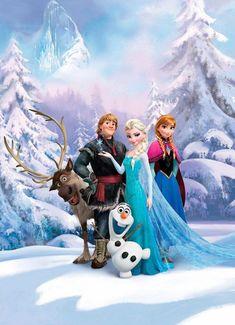 Komar Fototapete »Frozen Winter Land«, glatt, bedruckt, Comic, (Set), ausgezeichnet lichtbeständig online kaufen   OTTO
